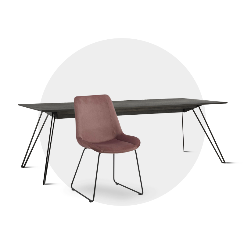 bureau design met stoel