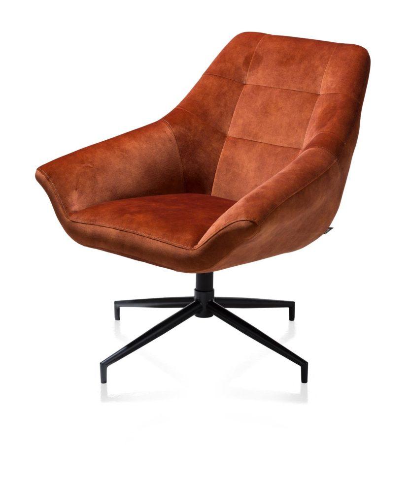 suède leder bruin stoel design