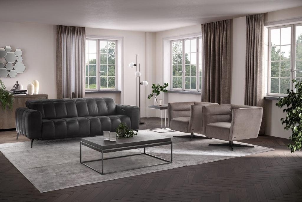 salon zitkamer relax leder zetel