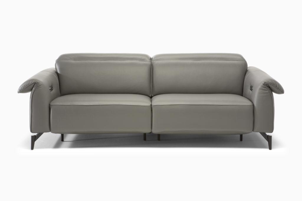 salon grijs leder design relax
