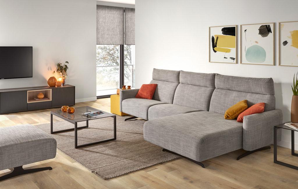grijs salon relax design