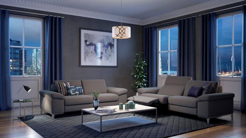 grijs salon 2 delig relax design