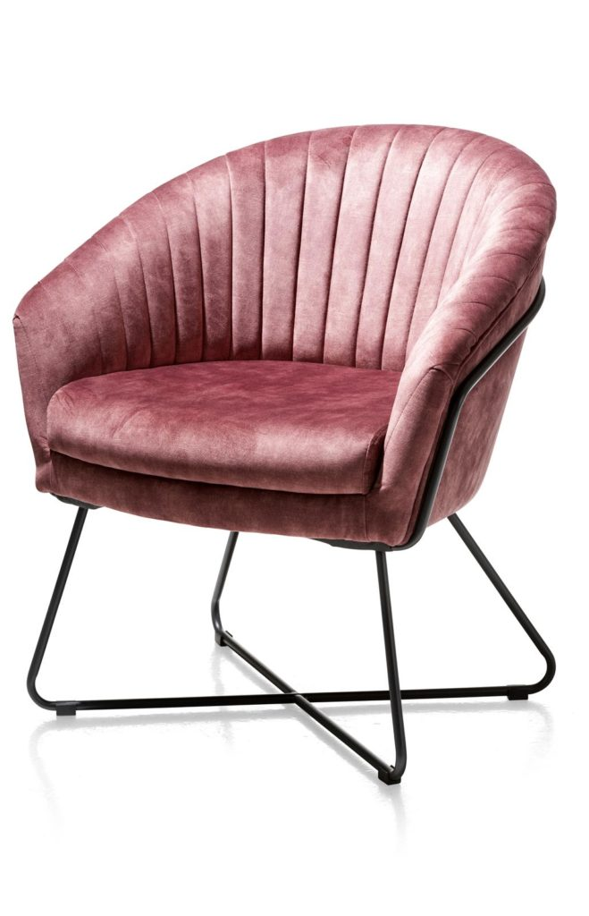 velours fusia roze paars stoel design