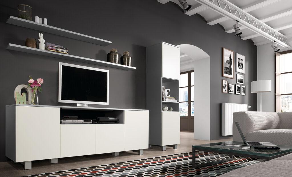 living Ponsaerts Meubelen tv-meubel en kast wit