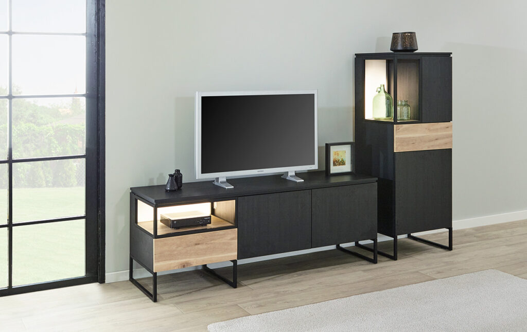 living Ponsaerts Meubelen tv-meubel zwart hout