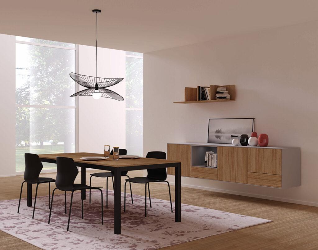 living Ponsaerts Meubelen eiken hout hangend meubel dressoir