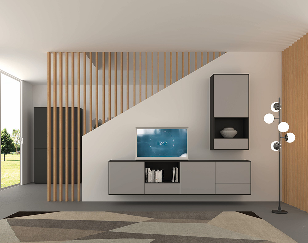 living Ponsaerts Meubelen tv-meubel licht grijs mat