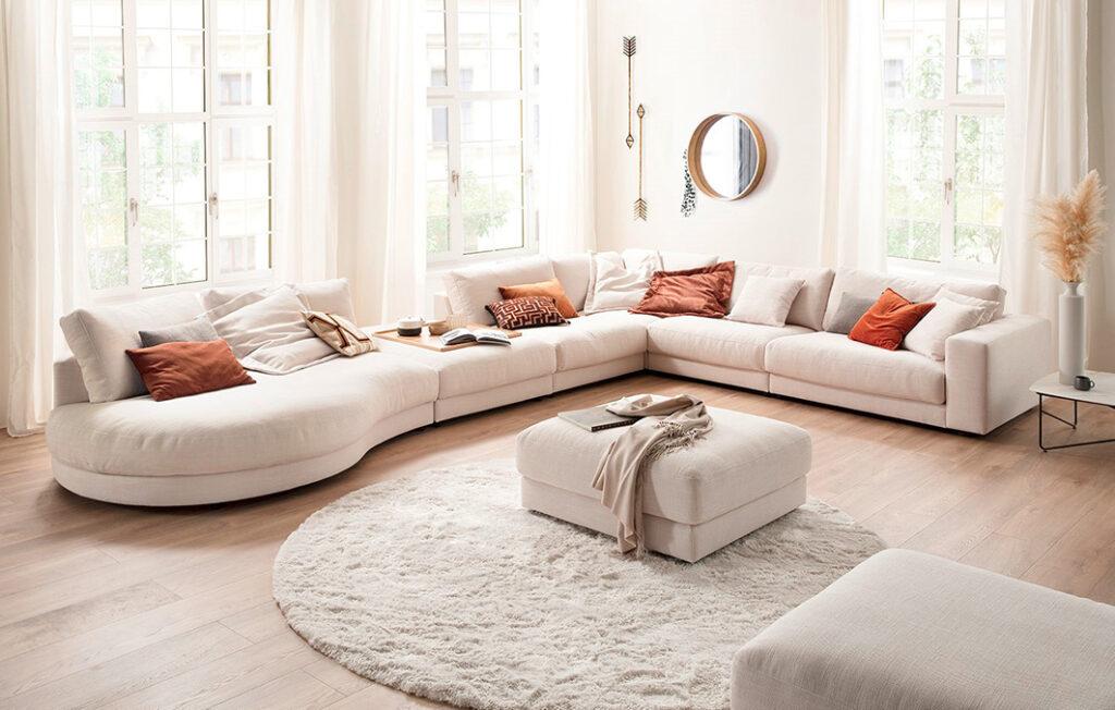 salon ponsaerts meubelen hoeksalon design earth tones light