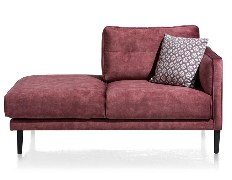 salon ponsaerts meubelen chaisse longue wijnrood velours