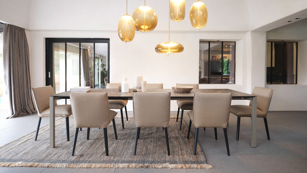 living Ponsaerts Meubelen volledige eetkamer set design stoelen